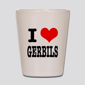 I Heart (Love) Gerbils Shot Glass