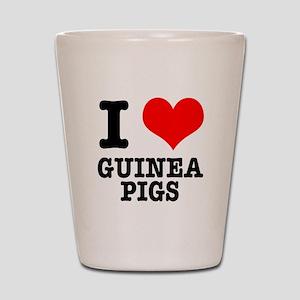 I Heart (Love) Guinea Pigs Shot Glass