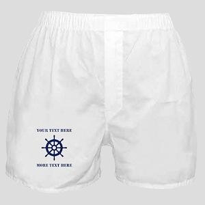 Custom Nautical Boxer Shorts For Sailor Captain