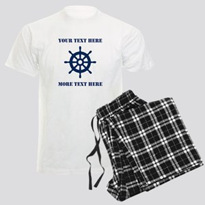 Custom Nautical Ship Wheel Pajamas For Sailor