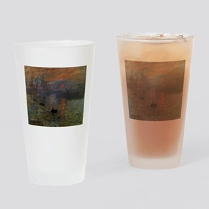 Impression, Sunrise by Claude Monet Drinking Glass