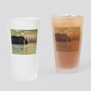 Claude Monet, Cliff Etretat Sunset Drinking Glass