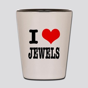 I Heart (Love) Jewels Shot Glass
