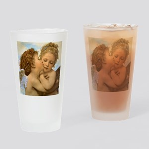 First Kiss by Bouguereau Drinking Glass