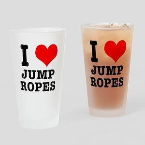 I Heart (Love) Jump Ropes Pint Glass