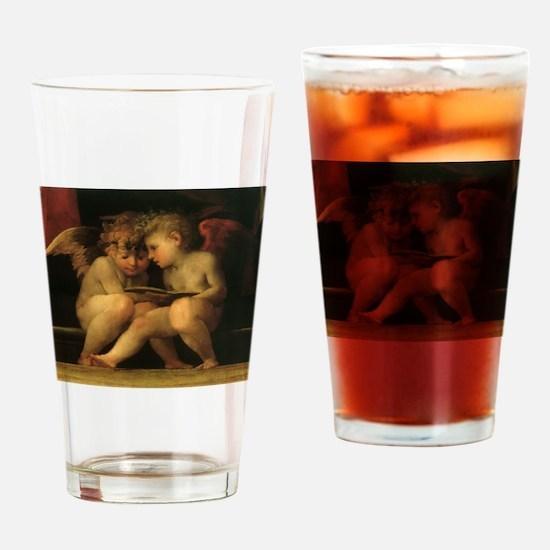 Cherubs Reading by Fiorentino Drinking Glass
