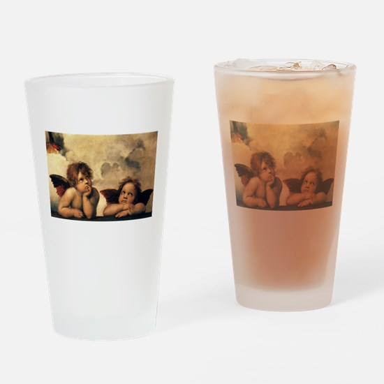 Angels by Raphael Drinking Glass