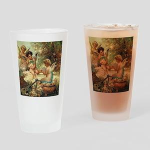 Victorian Angels by Zatzka Drinking Glass