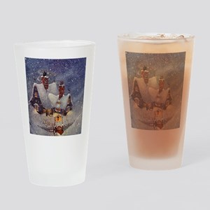 Vintage Christmas North Pole Drinking Glass