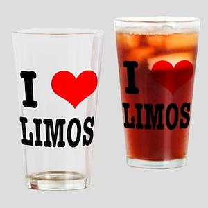 I Heart (Love) Limos Pint Glass