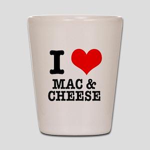 I Heart (Love) Mac & Cheese Shot Glass