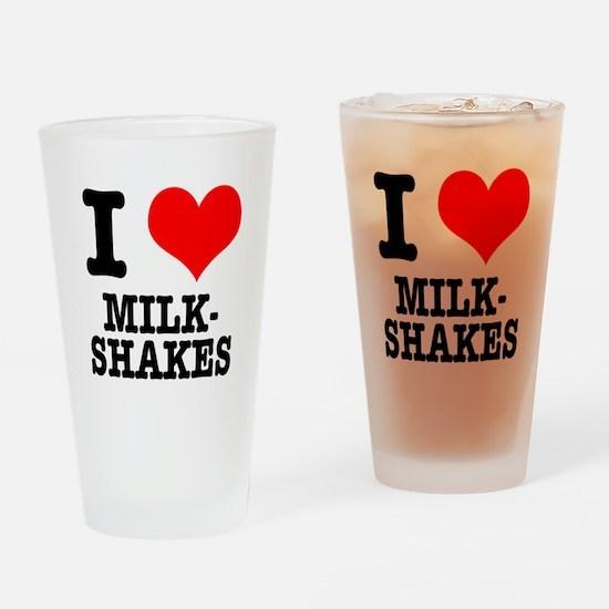 I Heart (Love) Milkshakes Pint Glass