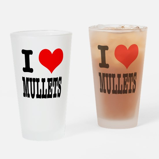 I Heart (Love) Mullets Pint Glass