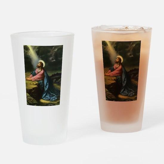 Vintage Jesus Christ Drinking Glass