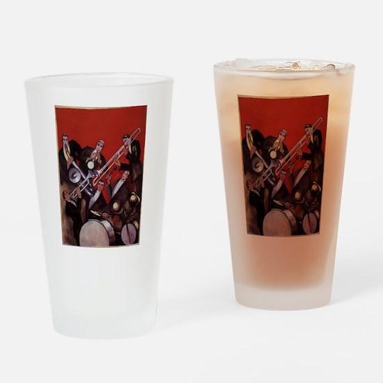 Vintage Music, Art Deco Jazz Drinking Glass