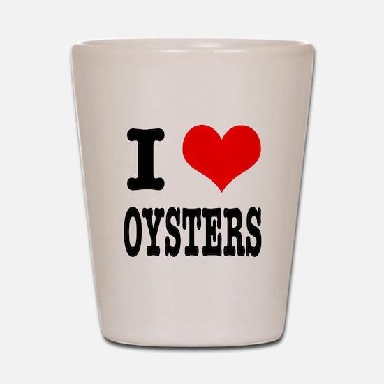 I Heart (Love) Oysters Shot Glass