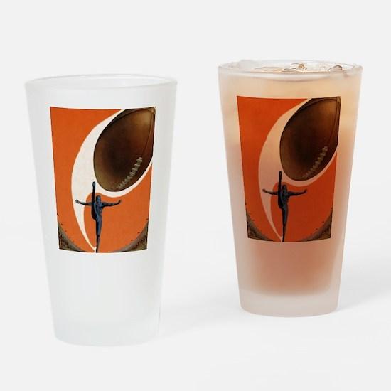 Vintage Sports Football Drinking Glass