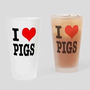 I Heart (Love) Pigs Pint Glass