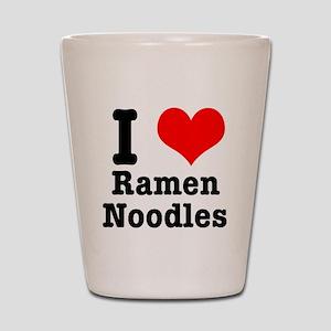 I Heart (Love) Ramen Noodles Shot Glass