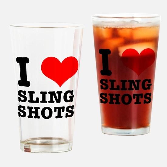 I Heart (Love) Sling Shots Pint Glass
