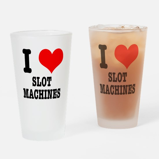 I Heart (Love) Slot Machines Pint Glass