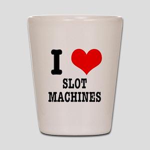 I Heart (Love) Slot Machines Shot Glass