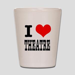 I Heart (Love) Theatre Shot Glass