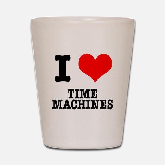 I Heart (Love) Time Machines Shot Glass