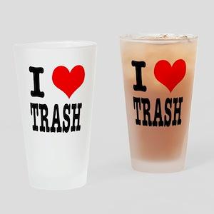 I Heart (Love) Trash Pint Glass