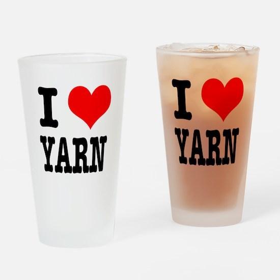 I Heart (Love) Yarn Pint Glass