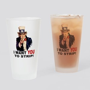 Want You to Strip Pint Glass