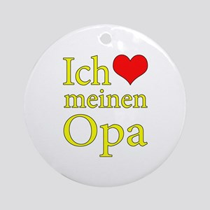 I Love Grandpa (German) Ornament (Round)
