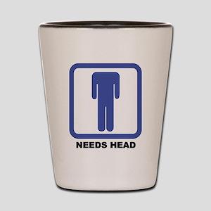 Needs Head Shot Glass