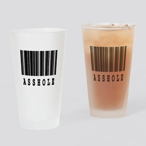 Asshole Barcode Design Pint Glass