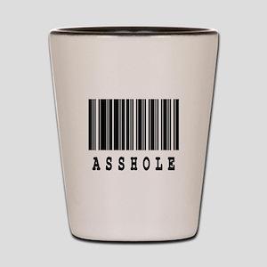Asshole Barcode Design Shot Glass