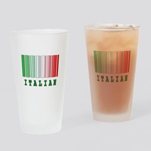 Italian Barcode Design Pint Glass