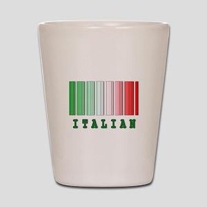 Italian Barcode Design Shot Glass