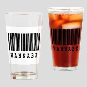 Wanna Be Barcode Design Pint Glass