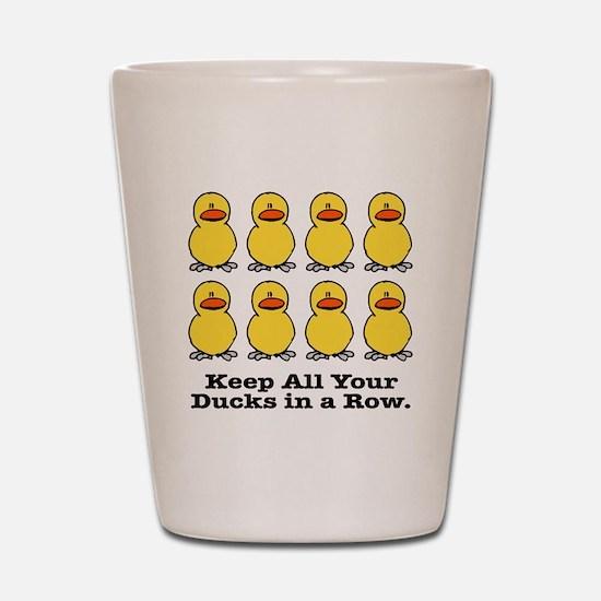 Ducks in a Row Shot Glass