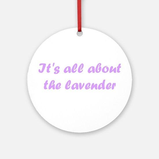 lavender Ornament (Round)