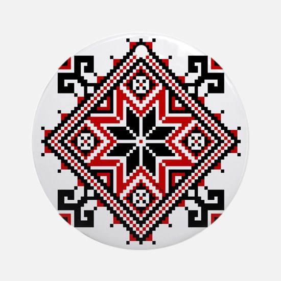 Folk Design 7 Ornament (Round)