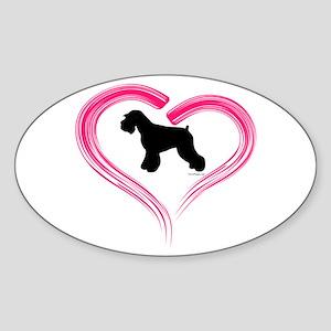 Heart My Schnauzer Natural Ea Sticker (Oval)