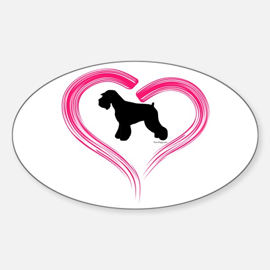 Heart My Schnauzer Natural Ea Sticker (Oval)