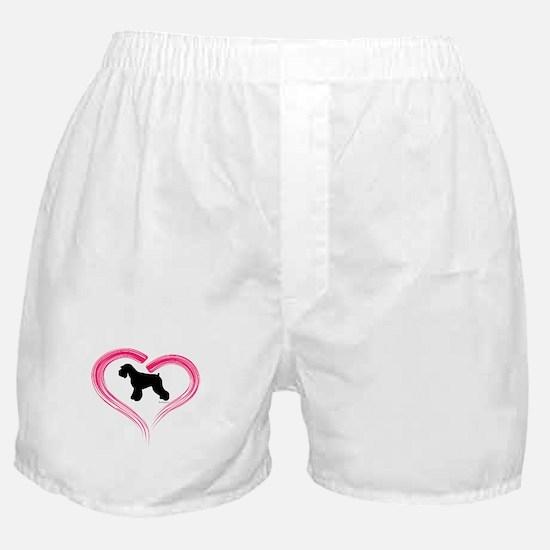 Heart My Schnauzer Natural Ea Boxer Shorts