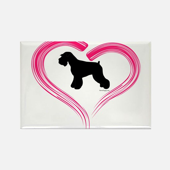 Heart My Schnauzer Natural Ea Rectangle Magnet