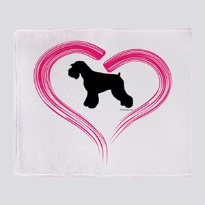Heart My Schnauzer Natural Ea Throw Blanket