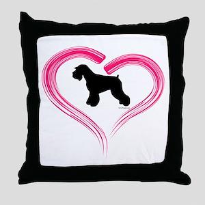 Heart My Schnauzer Natural Ea Throw Pillow