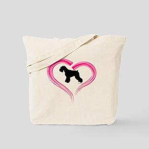 Heart My Schnauzer Natural Ea Tote Bag