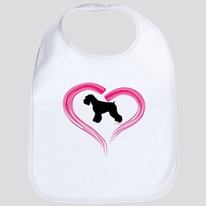 Heart My Schnauzer Natural Ea Bib