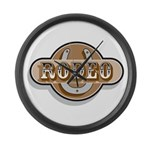 Rodeo Large Wall Clock